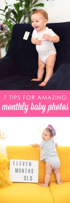 7 Tips for Taking Great Monthly Photos of Your Baby » Lovely Indeed