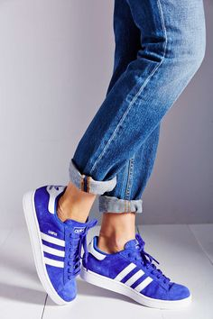 "adidas Originals Campus 2 Suede Sneaker - I WILL WEAR BLUE SUEDE SHOES WHILE IM ""walking in Memphis!!"""