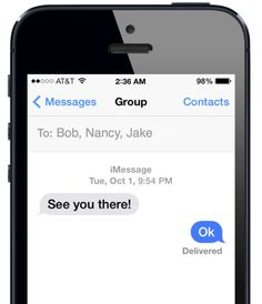 Five useful tips for group communication in iOS 7
