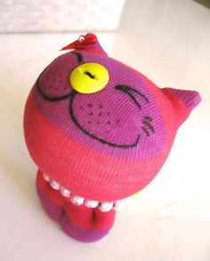 Red Kitty sock doll