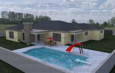 3 Bedroom House Plan - My Building Plans My Building, Building Plans, 4 Bedroom House Plans, Double Garage, Open Plan Living, Master Suite, Living Area, Mlb, Patio