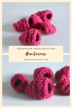 bibs for baby Himbeeren hkeln - kostenlose Hkelanleitung fr Himbeeren Crochet Fruit, Crochet Food, Cute Crochet, Knit Crochet, Knitting Projects, Crochet Projects, Felt Food, Sewing Leather, Play Food