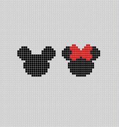 Silhouette of Minnie and Mickey Mouse - Pixel Art Patterns - . Silhouette of Minnie and Mickey Mouse – Pixel Art Patterns – …, Pixel Art Naruto, Pixel Art Pikachu, Pixel Art Anime, Cross Stitch Family, Mini Cross Stitch, Pixel Pattern, Pattern Art, Art Patterns, Dress Patterns