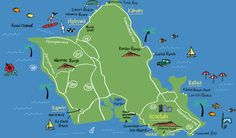 Hawaii map - Naho Ogawa