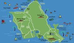 Hawaii map - Naho Ogawa