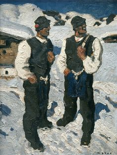 Biography, Literature and Works by Alfons Walde The Austrian painter and architect Alfons Walde was born on February 1891 in the village of Oberndorf near Kitzbühel. Sculpture Painting, Painting & Drawing, Kunst Online, Grafik Design, Quote Posters, Museum, Illustration, Skiing, Twins