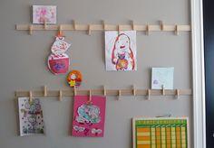 DIY rails for displaying artwork