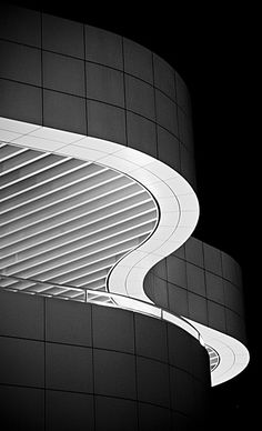 Meandering line #architecture | black and white