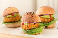 tinykitchenvegan:  Vegan Sweet Potato Burgers  Follow Us A Low...