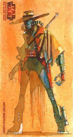 Another Cad Bane Sketch Card (by Mark McHaley)