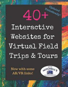 Interactive Web Sites for Virtual Field Trips & Tours Interactive Websites, Educational Websites, Web Tour, Virtual Class, Virtual Tour, Virtual Reality, Virtual Travel, Virtual Field Trips, Teaching Technology