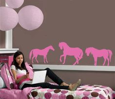 Sam 39 S Horse Bedroom On Pinterest Horse Bedrooms Wall Murals And