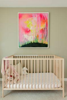 The art above the crib is by artist Patrycja Korzeniak.
