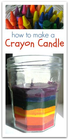 Rainbow Crayon Candle