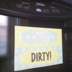 Used my Cricut and xyron to make a magnet for the dishwasher. Hopefully we remember to flip it!