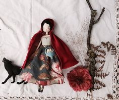 Little Red Riding Hood and her wolf New Dolls, Ooak Dolls, Plush Dolls, Best Christmas Toys, Red Hood, Waldorf Dolls, Hello Dolly, Fairy Dolls, Red Riding Hood