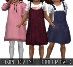 "simpliciaty: "" SIMPLICIATY'S TODDLERS PACK I joined the hype train, and converted some of my clothing for toddlers! It's not perfect, it's my first time doing something like this, hope you like it!..."