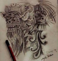 Barong and rangda tattoo,mean bad and good way in your life