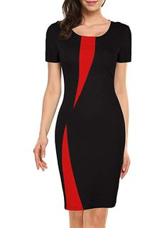 online shopping for WOOSEA Women's Short Sleeve Colorblock Slim Bodycon Business Pencil Dress from top store. See new offer for WOOSEA Women's Short Sleeve Colorblock Slim Bodycon Business Pencil Dress Trendy Dresses, Cute Dresses, Casual Dresses, Dresses For Work, Dress Outfits, Fashion Outfits, Party Outfits, Fashion Boots, African Fashion Dresses