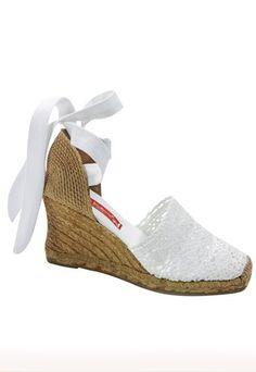 19 mejores imágenes de Cuñas Blancas | Zapatos de novia
