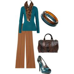 Cute to wear to work....Camel, created by mlb1104.polyvore.com