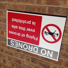 Avión no tripulado de la prohibición Sign