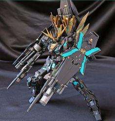 "Custom Build: MG 1/100 Banshee Norn ""Awakening Green Frame ver."" - Gundam Kits Collection News and Reviews"