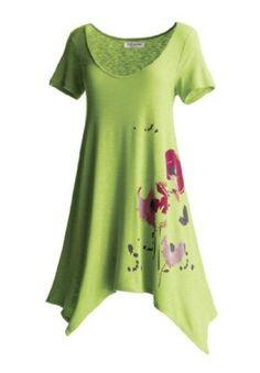 Jessica London Plus Size Hanky Hem Tunic $39.99 - $44.99