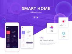 """查看此 @Behance 项目:""""Smart home control app""""https://www.behance.net/gallery/45816045/Smart-home-control-app"""