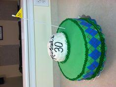 30th birthday golf cake! Amazing!!!