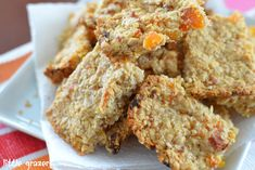 Mango, Pineapple and Coconut Oaty Biscuits Healthy Treats, Healthy Baking, Good Food, Yummy Food, Tasty, Baby Food Recipes, Snack Recipes, Family Recipes, Flapjack Recipe