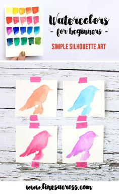 Lines Across: Watercolors for Beginners: Part 3 - Simple Silhouette Art