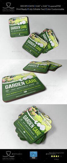 Garden Services Coaster Template
