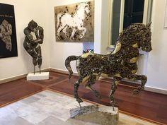 Le opere di Mario De Luca esposte al PAF #Museum di #Velletri, sede dell'associazione #AIPLC.