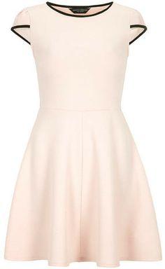 Dorothy Perkins Black and blush skater dress