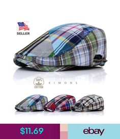 Hommes Femmes Camouflage colorant match Flat Brim cap coton petits carreaux Hip Hop Chapeau