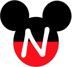 Mickey Heads with Alphabet. - Oh my Alfabetos! Mickey Mouse Clubhouse, Mickey Mouse Letters, Mickey Mouse Crafts, Fiesta Mickey Mouse, Mickey Mouse Decorations, Theme Mickey, Mickey Party, Mickey Mouse Birthday, Birthday Decorations