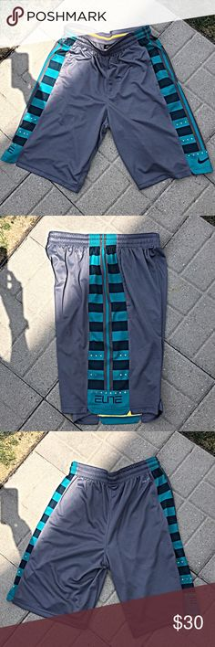 NIKE MENS ELITE BBALL SHORTS NIKE ELITE BBALL SHORTS WORN A FEW TIMES HAS A FEW SNAGS. Size M Nike Shorts Athletic
