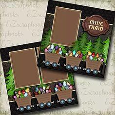 Mine Train - Disney - Premade Scrapbook Pages - EZ Layout 2915