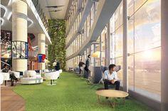 Contemporary Airport Lounge Concept - CIP, Iran Airport - design by Swiss Bureau Interior Design LLC.