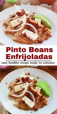 Real Mexican Food, Mexican Food Recipes, Ethnic Recipes, Low Calorie Recipes, Easy Healthy Recipes, Budget Recipes, Bean Enchiladas, Pinto Beans, Weight Loss Meal Plan