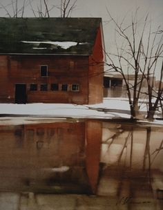 2009, In Reflection by Joseph Alleman Watercolor