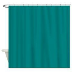 Solid Teal Shower Curtain Curtains World Green Color Schemes