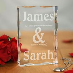 Personalized Couples Romantic Keepsake Block - Gifts Happen Here - 1