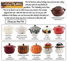 Celebrating Home Bean Pots! Contact me! Crystal Metcalf!