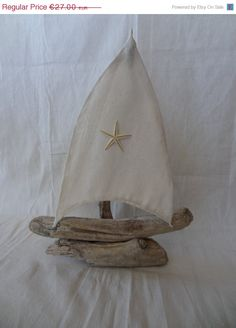 Driftwood Natural Sailboat   Driftwood Decoration   by SteliosArt, €22.95