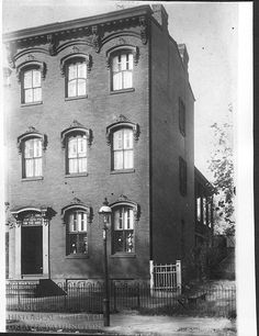 The Hebrew Home for the Aged was organized in 1914 when several Jewish businessmen learned that some homeless Jews were living in St. Elizabeths Hospital. This three-story brick building at 415 M Street, NW, formerly home to the Young Men's Hebrew Association, became the first Hebrew Home. By 1925, the Home needed more space and built a new building at 1125 Spring Road, NW.    Courtesy of Hebrew Home of Greater Washington.