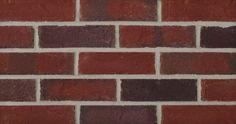 Ridgeland is a red extruded facebrick from the Iberia Plant #redbrick #glengery #brickhouse #fireplace #backsplash #brick