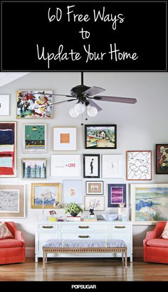 Gallery Wall · Creative Home Decor Inspiration · Wall Art · Eclectic Office Estilo Interior, Coffee Table Makeover, Diy Casa, Diy Décoration, Contemporary Decor, Contemporary Cottage, Contemporary Apartment, Contemporary Wallpaper, Contemporary Chandelier