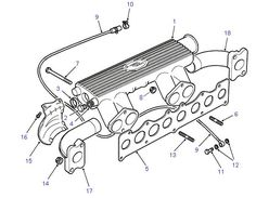 Land Rover Parts - INLET & EXHAUST MANIFOLD - 300 TDI
